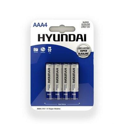 Hyundai Ultra Batterijen AAA - 4 Stuks