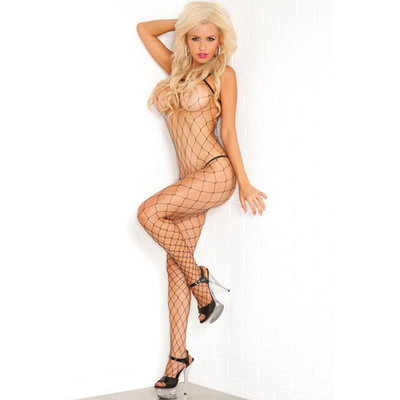 Visnet Bodystocking - Zwart