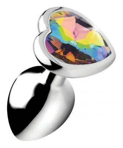 Image of Rainbow Heart Buttplug - Klein