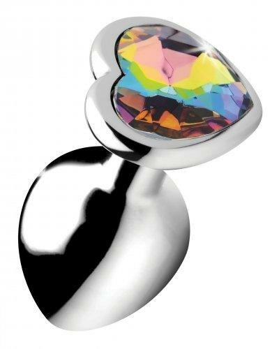 Image of Rainbow Heart Buttplug - Middel