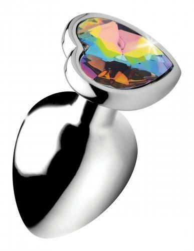 Image of Rainbow Heart Buttplug - Groot