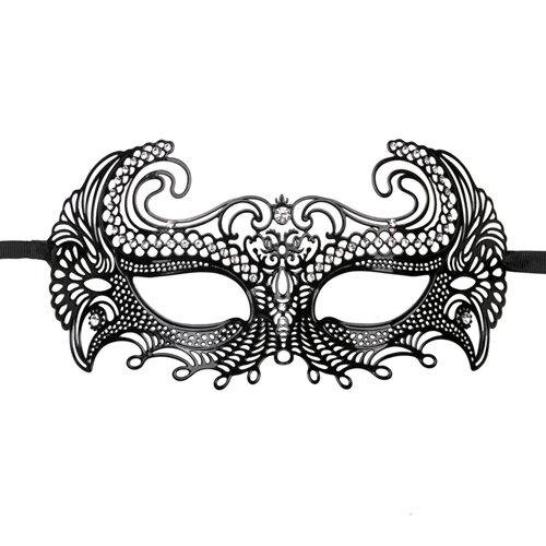 Image of Easytoys Metalen Venetiaans Masker - Zwart