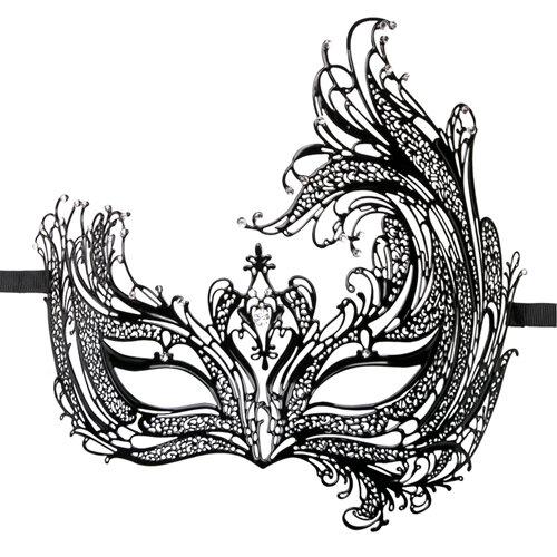 Image of Easytoys Open Venetiaans Masker - Zwart