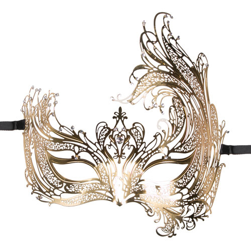 Image of Easytoys Open Venetiaans Masker - Goudkleurig