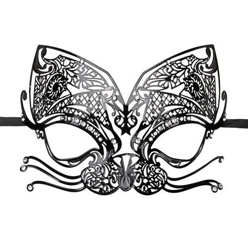 Image of Easytoys Opengewerkt Venetiaans Masker - Zwart