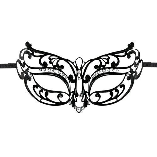 Image of Easytoys Opengewerkt Masker Metaal - Zwart