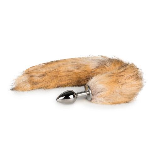 Image of Buttplug met vossenstaart in bruin