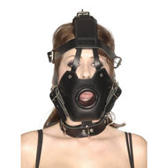 Strict Leather Premium Muzzle with Open Mouth Gag – Master Series