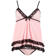 Babydoll-Set Rosa – Cottelli Collection